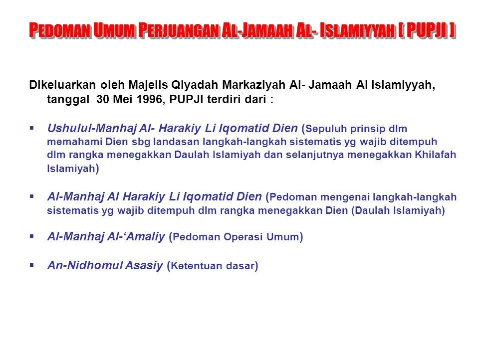 PEDOMAN UMUM PERJUANGAN AL-JAMAAH AL- ISLAMIYYAH [ PUPJI ]
